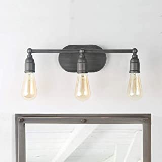 LNC Bathroom Vanity Lights Farmhouse Industrial Wall Sconces with Silver Painting Finish, A03391