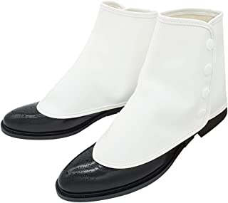 ZAWAGIIK Gangster Spats for Men Roaring 20s White 1920s Accessories Gangster Spats Shoes Covers
