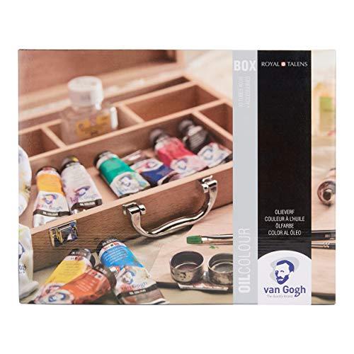 Van Gogh Oil Color Paint, 10x40ml Tubes + Accessories, Wooden Box Basic Set