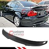 Cuztom Tuning Fits for 2006-2011 BMW E90 3 Series M3 4 Door Sedan PS Style Highkick Duckbill Carbon Fiber Trunk Spoiler Wing