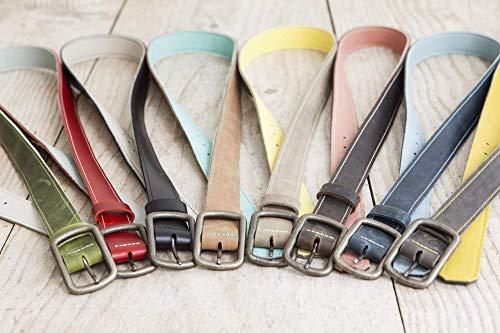 Ledergürtel, Gürtel aus echtem Leder, handgefertigt in Bayern, Wendegürtel, viele Farbkombinationen, echt Leder