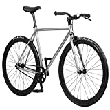 Pure Fix Original Fixed Gear Single Speed Fixie Bike, Oscar Chrome, 58cm/ Large