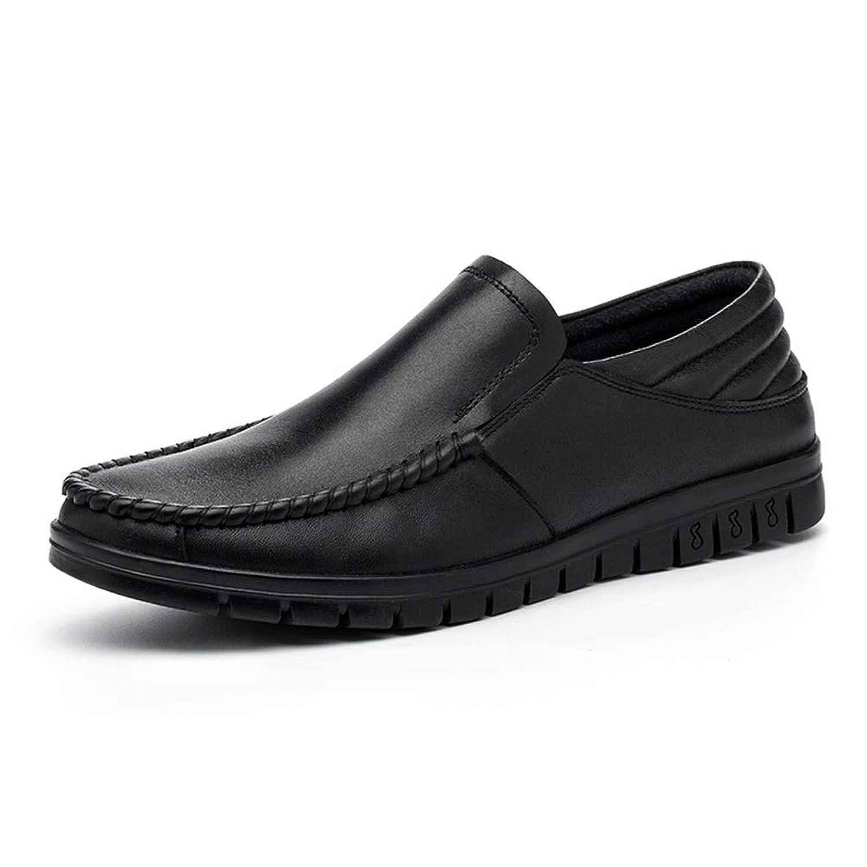 [Tiandao] ビジネス 防滑 カジュアル 耐久 通気 簡単着脱 シューズ ハイキング 革靴 メンズ 軽量