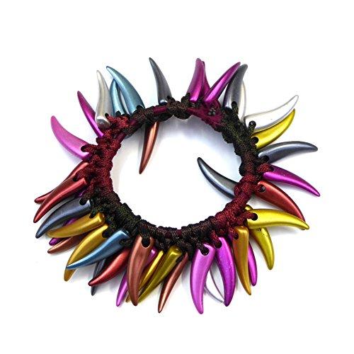 rougecaramel - Elastique cheveux ou bracelet perles fantaisie multicolore