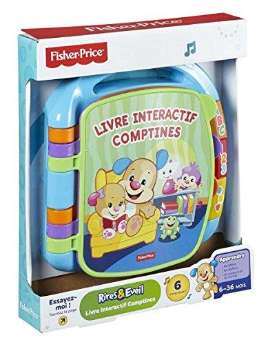 Fisher-Price CDH39 Interaktive Buch, Abzählreime, Babyspielzeug