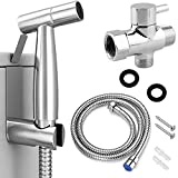 Home Handheld Bidet Sprayer for Toilet, Stainless Steel Bathroom Bidet Sprayer Set, Baby Cloth Diaper Sprayer with Superior Complete Accessories, Easy to Install and Control Water Pressure