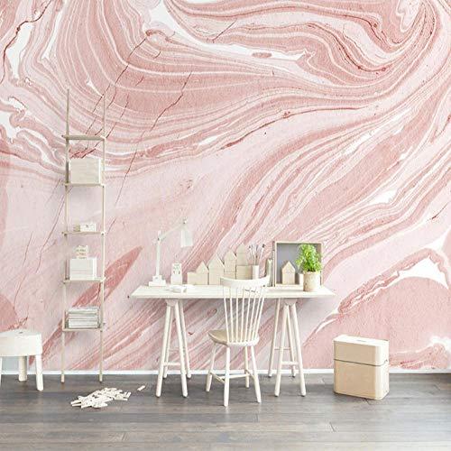 Papel pintado tejido no tejido Patrón de mármol blanco rosa Papel tapiz fotográfico fotomurales decorativos para Sala Cuarto Oficina Salón vinilos pared 250x175cm