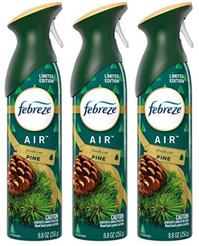 Febreze Air - Air Freshener Spray - Limited Edition - Winter Collection 2017 - Fresh-Cut Pine - Net Wt. 8.8 OZ (250 g) Per Bottle - Pack of 3 Bottles