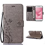 SMTR PU Leather Wallet case Stand Cover for Asus Zenfone 4