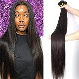 Brazilian Straight Bundles (28inch) 100% Unprocessed Virgin Human Hair Bundles Straight Hair Extensions Weave Bundles Straight Hair Natural Color