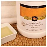 Always Fresh Massage Laundry Detergent by Lotus Touch - Professional Strength for Massage & Spa Sheets, Linens & Towels - Lubricant Break Down & Odor Neutralization - Spring Fresh Scent - 1 Gallon