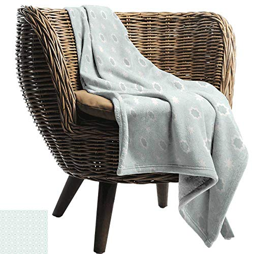 ZSUO gooien deken voor bank Quatrefoil, Oud Delfts Blauw Geïnspireerd Patroon ingewikkelde Oud Nederlands Tegel Motieven, Pale Bruin Blauw Wit Gemakkelijk te dragen Deken