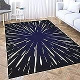 Soft Area Rug,TOMWISH Living Room Bedroom Floor Star Wars Flying Through The Stars at The Speed of Light Decoration Carpet, Dormitory Living Room Rest Carpet Mat, Area Rug 5X7 Black