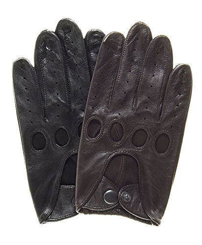 Pratt and Hart Touchscreen Leather Driving Gloves Size S Color Black