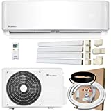 Klimaire 18,000 BTU KSIV 19 SEER Ductless Mini-Split Inverter Air Conditioner Heat Pump System with 15-ft Installation Kit, Wall Bracket, and Line Set Covers 208/230V