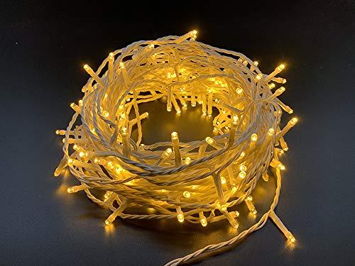 Style home 200er LED Lichterkette Lichtervorhang 23M /Warmweiß /8 Leuchtmodi/Wasserdicht IP44, Dekolampefür Indoor & Outdoor Party Weihnachten Hochzeit Garten Festival (Warmweiß)