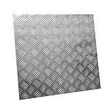 JKGHK Aluminio Chapa Estriada, Se Pueden Seleccionar Diferentes Tamaños,500mm x 500mm x 1.5mm