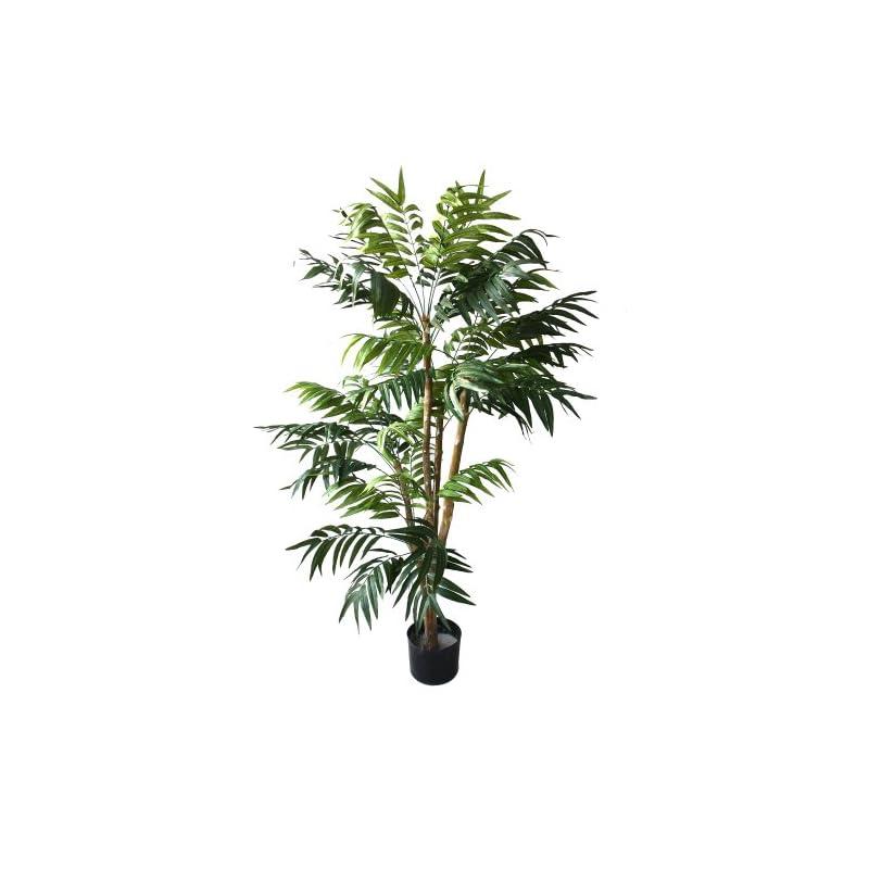 silk flower arrangements pure garden 50-10004 5 foot tropical palm artificial tree, 30x30