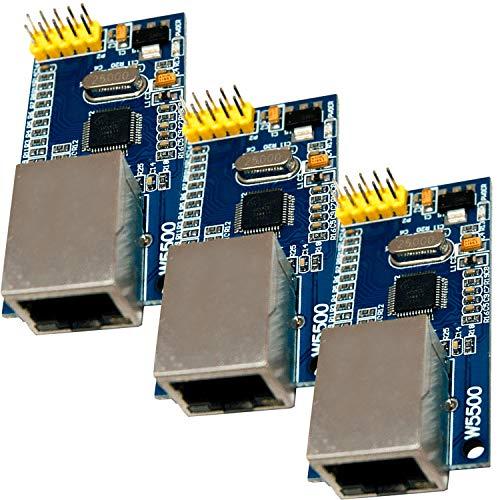 AZDelivery 3 x W5500 Ethernet Modulo para Arduino eBook incluido