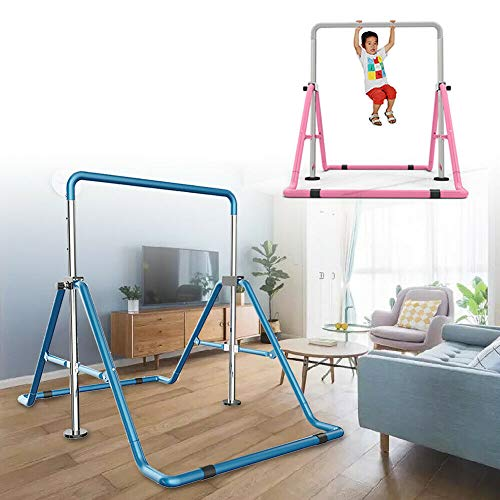 DiLiBee Gymnastic Horizontal Bar Kid Trainingsstange erweiterbare Gym Folding Kip Training (Rosa)