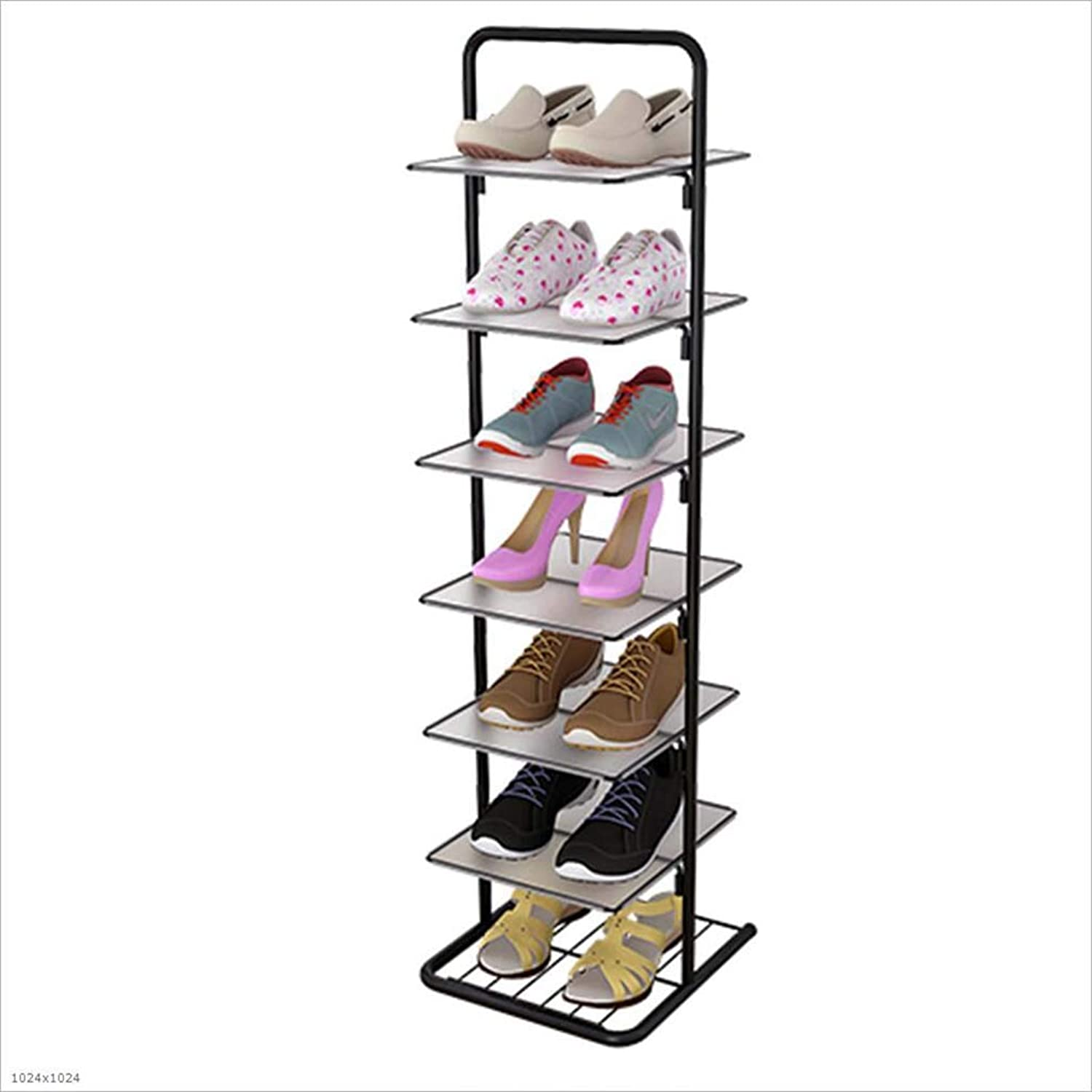 Simple Double shoes Rack Home Economy Multi-Layer shoes Cabinet Living Room Dormitory Small shoes Rack Modern Minimalist,7Tier