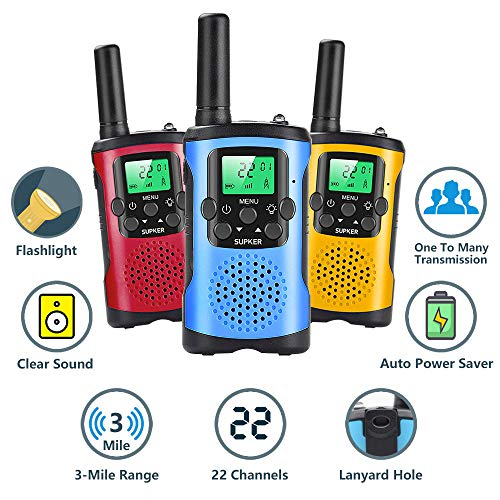 Kids Talks Toys for 3-12 Year Old Boys Girls Birthday Gift, 3 Miles Long Range for Outdoor Camping Game