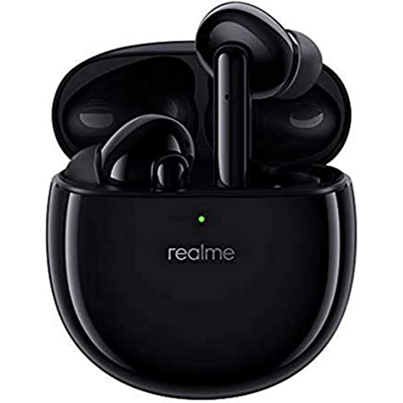 realme - Buds Air Pro, Audifonos inalámbricos, Bluetooth 5.0, cancelación Activa de Ruido ANC 35db, Baja Latencia 94ms, Batería de hasta 25hrs. (Negro)