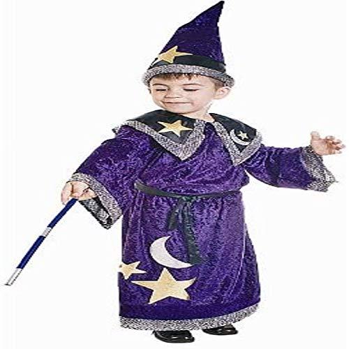 Dress Up America- Costume da Mago Magico per Bambini Magischer Zauberer-Kostüm für Kinder, Multicolore, taglia 8-10 anni (vita: 76-82, altezza: 114-127 cm), 548-M