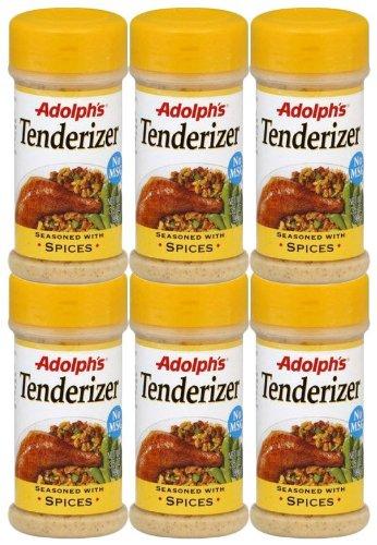 Adolphs Adolph Tenderizer Seasoned w/ Spices, 3.5 oz, 6 pk