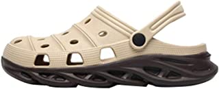 Men's Clog Sandals, Lastest Color Matching Design, Blade Shape Sole, Lightweight Slip-On Slippers Beach Pool Casual Water Shoes