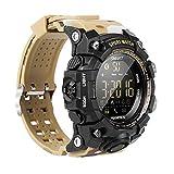 MRMRMR Reloj Deportivo para Hombres, Reloj Inteligente, Reloj Digital con Reloj podómetro Bluetooth Impermeable