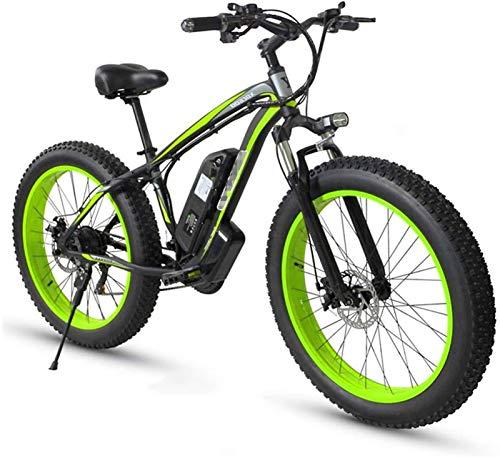 Bicicletas Eléctricas, Las bicicletas eléctricas Off-Road 26' Fat Tire E-Bici 350W sin escobillas del motor 48V adultos Electric Mountain Bike 21 Frenos de disco de doble velocidad, aleación de alumin