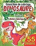 Grand livre de coloriage dinosaure enfant: 55 merveilleux dessins de dinosaures à colorier pour garçons et filles dès 3 ans ; Peinture magique ... dinosaure (livre de coloriage pour enfants)