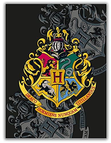 Manta de Harry Potter, color negro