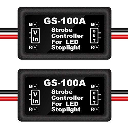 Kinstecks 2 STÜCKE LED-Blitz Controller Bremslicht Blinker Bremslicht Strobe Modul für Motorräder Autos Lkw (Nur für LEDs)