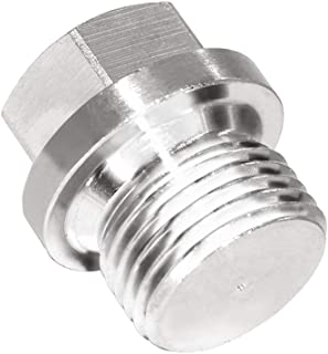 Joyway Stainless Steel Outer Hex Head Flange Pipe Fitting Plug Oxygen O2 Sensor Bung M18x1.5 Thread