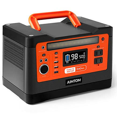 540Wh Portable Solar-Ready Power Station, Lithium Battery Pack by Aimtom