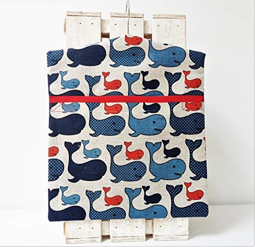 Hadmade Wäscheklammerbeutel aus Leinen und Baumwolle Wal