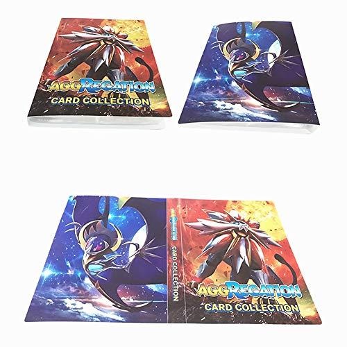 Álbum Titular de Tarjetas Pokémon Carpeta Carpeta Libro 30 páginas 240 Tarjetas Capacidad (Dios del Sol)