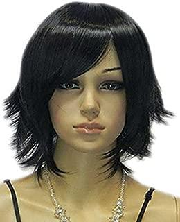 Tsnomore Black Color Bob Women Synthetic Wig (Side Bang)