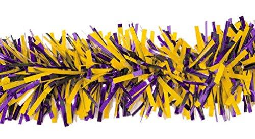 Anderson's Purple and Spanish Gold Metallic Twist Garland, 4 Inches x 4 Feet