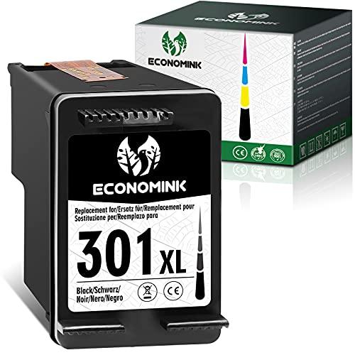 Economink Remanufacturado para HP 301 301xl Cartuchos para HP DeskJet 2540 3050a 1050 1050a 1510 2050 3055a 1512 Envy 5530 4500 OfficeJet 4630 (1 Negro).