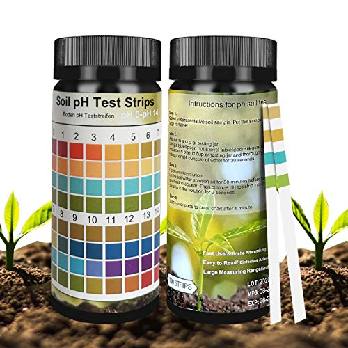 Not application Soil Test Strips, Soil Testing Kit, 100 Tests PH Strips for...