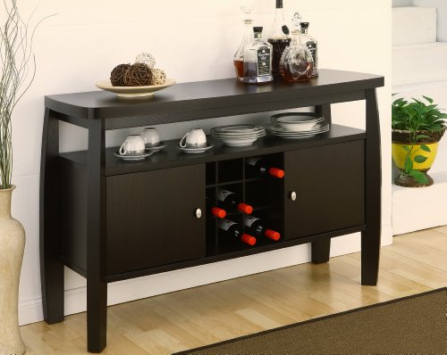ioHOMES Clyton Contemporary 2-Door Storage Cabinet Dining Buffet with One Open...