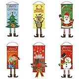 Banbie Weihnachtsschmuck hängende Stoff Supermarkt Store Mall Hotel Szene Layout Weihnachtsdekoration Fenster hängen Flagge