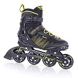 FUNAKTIVE Herren Fitness Inlineskates Peer 3 by Tempish I 5 Größen I komfortable Skates I leichtes Anziehen I schwarz/gelb, 43