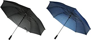 ActivSport Folding Golf Umbrella - 2 Pack - Great for Travel - Auto Open - Strong Construction - Designer Colors - Classic Value by Unity