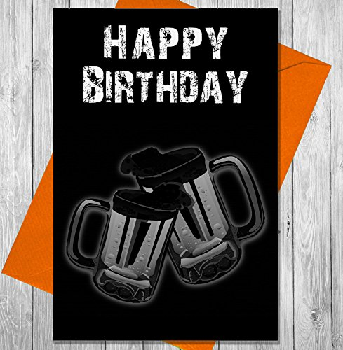 Verjaardagskaart bier Cheers - Unieke Krijtbord Effect Wenskaart
