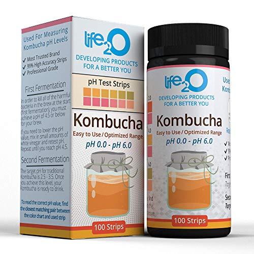 Kombucha Kit pH Test Strips, 100 pH Acid Tests for Home Fermentation...