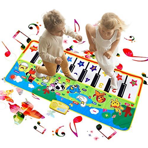 Musikmatte Kinder, Reditmo Tanzmatte Piano Matte Keyboard Matte Klaviermatte für Babys, Kinder, Mädchen und Junge, 138 x 58cm